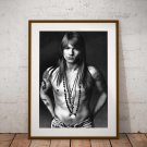 Axl Rose 13x19 Inch Canvas Poster Fine Art Black And White Portrait Print Unframed