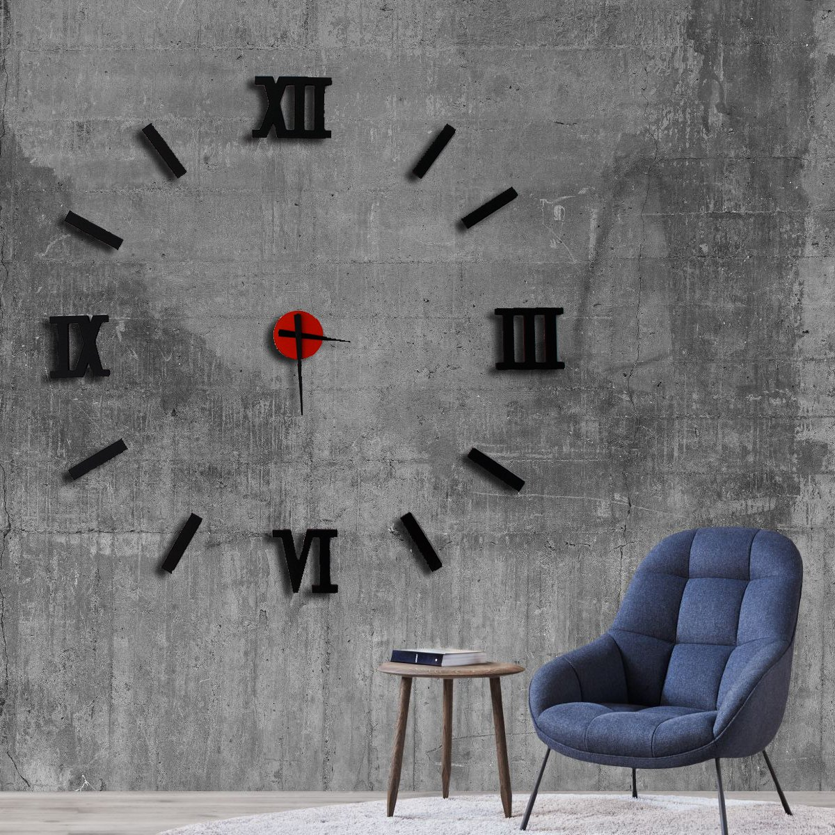 Modern Wall Clock,Large Unique Wood,Engagement Wedding Gift,Living Room ,Home decor ,Gift for Friend