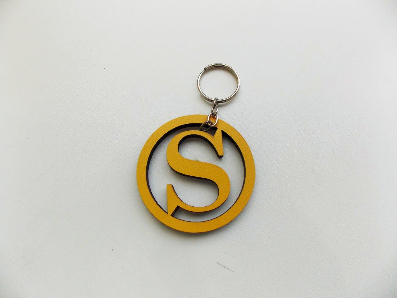 Keychain , Capital letter keychain , Custom keychain,Gift for