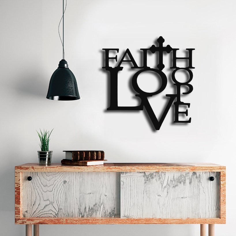 Love Hope Sign, Rustic Word Art Sign,Wooden words, Wooden Wall Signs