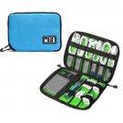 Portable Travel Cable Organizer Bag Electronics Accessories Storage Case Blue