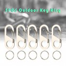 5PCS D/S/8 Shape Buckle Portable Outdoor Stainless Steel Mini Hook Keychain Key Ring Tool