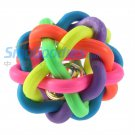 5pcs Colorful Pet Doy Chewing Ball Cat Rainbow Color Rubber Bell Sound Ball