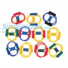 5pcs Resistance Band Yoga Pilates Abs Exercise Stretch Fitness Tube Workout Bands
