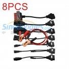 8PCS/SET Professional 8 Cables for Automobile Car Multi-diagnostic Tools