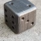 16MM Damascus Dice 20 Dollar per Dice / Hand Forged Steel / Damascus Steel