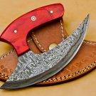 Handmade Damascus Chef Kitchen Ulu Knife Chef Knife Heavy Duty Damascus Handle Koa Wood