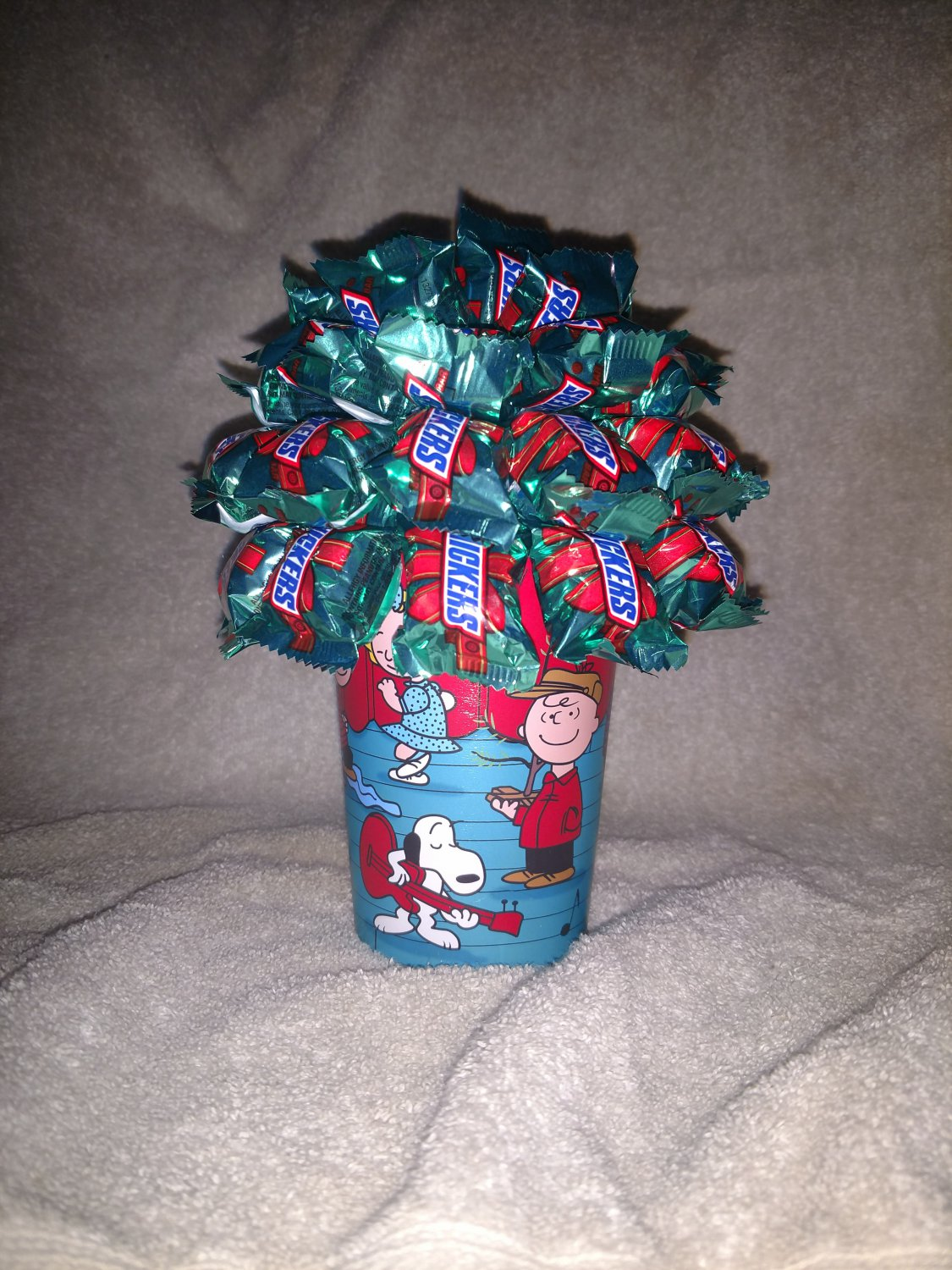 Miniature Snickers Christmas Candy Bouquet