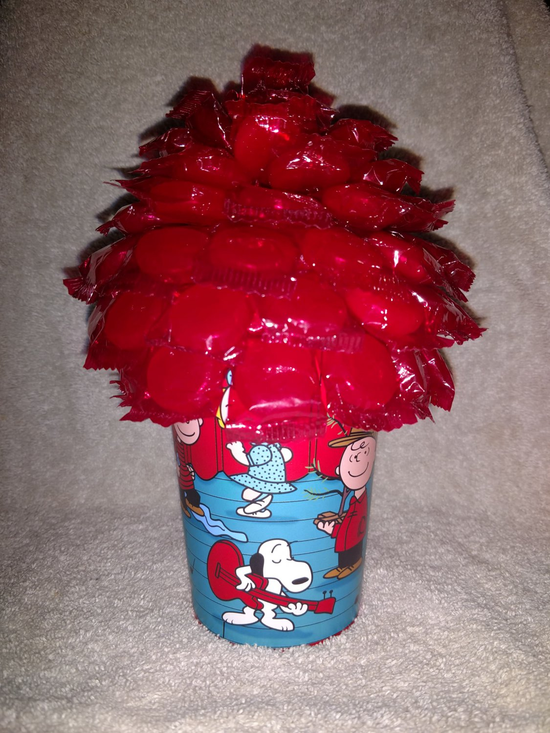 Peanuts Christmas Candy Bouquet