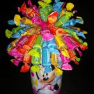Minnie Mouse Fruit Tootsie Roll Candy Bouquet
