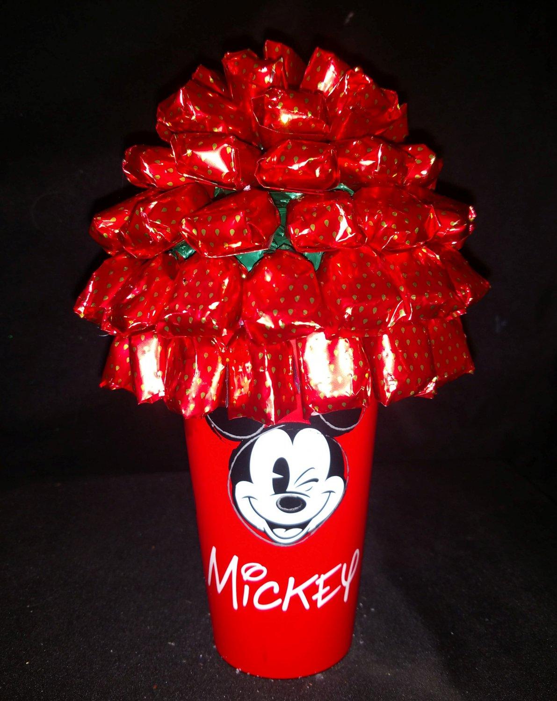Mickey Mouse Strawberry Bon Bon Candy Bouquet