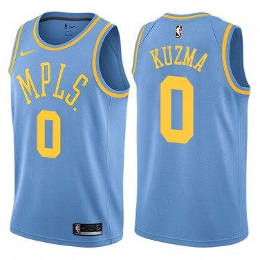 the latest 115e2 22b57 New Men's L.A. Lakers #0 Kyle Kuzma Retro stitch basketball jersey Blue  S-XXL