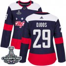 Women's Christian Djoos Authentic Navy Blue NHL Jersey #29 Washington Capitals 2018 Stanley Cup