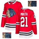 Chicago Blackhawks #21 Stan Mikita Golden style Hockey Jersey Stitched