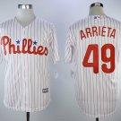 Men Philadelphia Phillies #49 Jake Arrieta Jersey Baseball White Stitched