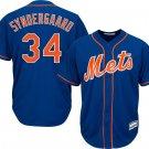 Men's #34 Noah Syndergaard New York Mets Royal Blue Cool Base Jerseys