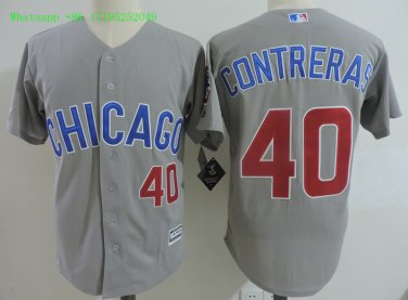 new concept 1af58 02075 Men's #40 Willson Contreras Jersey Chicago Cubs Jerseys Cool ...