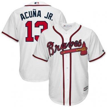 finest selection 8063f ea4b8 Men's 2018 Atlanta Braves #13 Ronald Acuna Jr. Jersey White ...