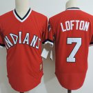 Men's Cleveland Indians Jerseys #7 Kenny Lofton Jersey Red Collection Throwback