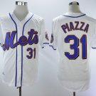 Men's New York Mets #31 Mike Piazza White Home 2018 Stitched Baseball Jersey