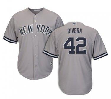 premium selection 47e4c 69ab7 Men's New York Yankees #42 Mariano Rivera Gray Cool Base Jerseys