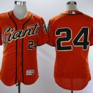 Men's San Francisco Giants #24 Willie Mays Orange 2018 Stitched Baseball Jersey