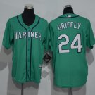 outh Seattle Mariners #24 Ken Griffey Jr. Green Kids Cool Base Jersey