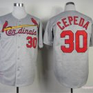 St. Louis Cardinals 30 Orlando Cepeda Gray 1967 Cooperstown Jersey