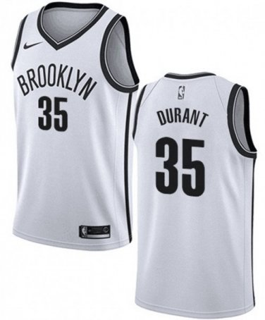 info for 655b4 675be Men's Brooklyn Nets #35 Kevin Durant Basketball Stitched Jersey White
