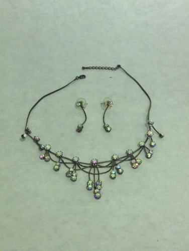NEW - AB Austrian Crystal Necklace & Earring Set