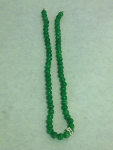NEW VINTAGE - 1960's Japanese Handcrafted Jade Green Glass Beads