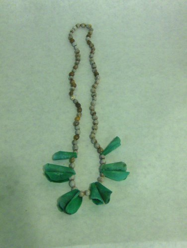 VINTAGE - Seeds & Scales Necklace in Grey/Blue, Green Tones