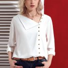 Blouse With White Round Neck Size S