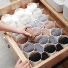 Plastic Grid Honeycomb Drawer Cabinet Partition Divider Storage For Socks 8pc