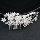 Handmade Pearl Crystal Bridal Hair Accessories,Hair Comb with Bead Rhinestone