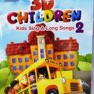Children Series DVD+CD 3D Children Kids Sing A Long Songs Vol.2 English Dubbed