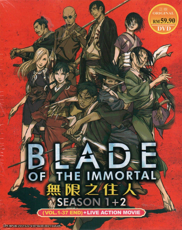 Anime DVD Blade Of The Immortal Season 1+2 Vol.1-37 End + Movie English Dubbed