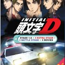 Anime DVD Initial D Season 1-6 + 3 Extra Stage + 3 Battle Stage + 3 Legend + OST