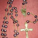 Hand Crafted Rosary: Cultured Pearl and Brass