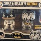 Funko Pop 2 pack DC Comics Batman Zebra Bullseye Hot topic Exclusive Rare