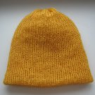 dark yellow mohair beanie