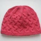 organic cotton pink girls hat, Gots certified yarn