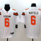 Men's Cleveland Browns #6 Baker Mayfield White Limited Jersey Stitched