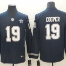 Dallas Cowboys #19 AMARI COOPER Navy Therma Long Sleeve Stitched Jersey