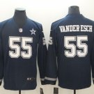 Dallas Cowboys #55 Leighton Vander Esch Navy Therma Long Sleeve Stitched Jersey