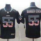 Leighton Vander Esch #55 Dallas Cowboys Rush Limited Player Jersey Men's Black USA Flag