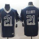Men's Dallas Cowboys #21 Ezekiel Elliott Football jersey Blue hyphenation S-3XL