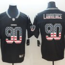Men's Dallas Cowboys 90 DeMarcus Lawrence Football Player Jersey Limited USA flag