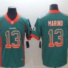 Mens Miami Dolphins 13 Dan Marino Green Color Rush Football Jersey S-3XL