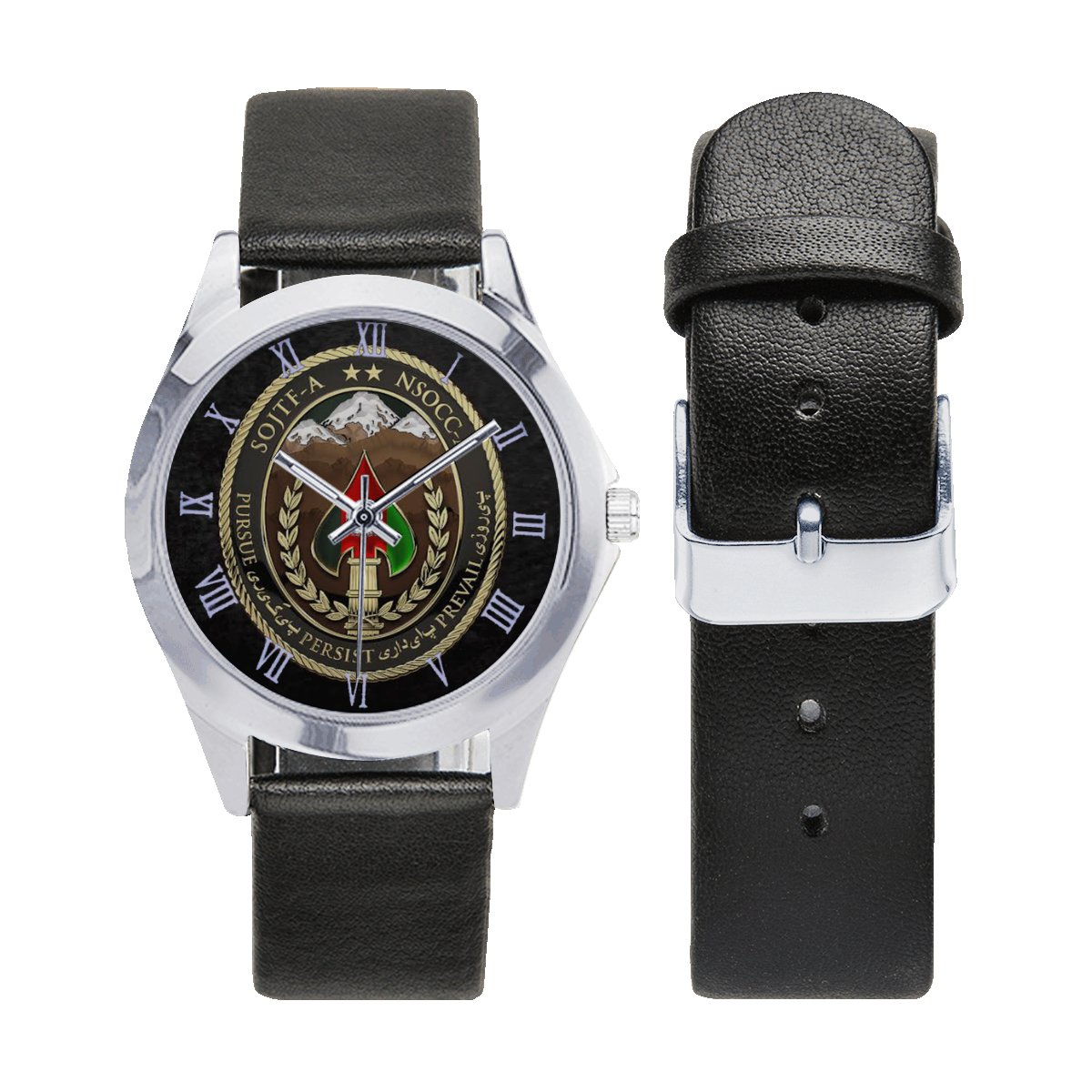 Special Operations Force - Afghanistan Army Leather Strap Watch Wrist Watches a perfect accessory